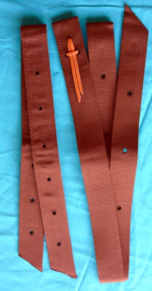 Tie strap and Off billet Set Brown
