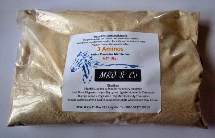 3 Aminos contains Methionine Threonine Lysine 1kg