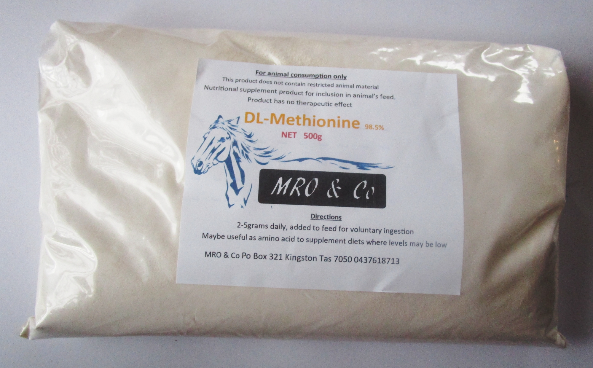 Methionine Animal feed grade 1kg