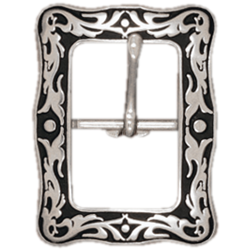 Jeremiah Watt Accented Floral Square Centre Bar Buckle 16mm